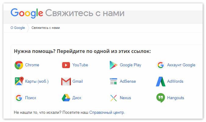 Техподдрежка Google Drive