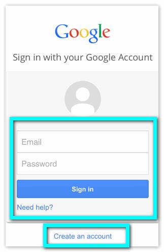 Войти в Google Drive