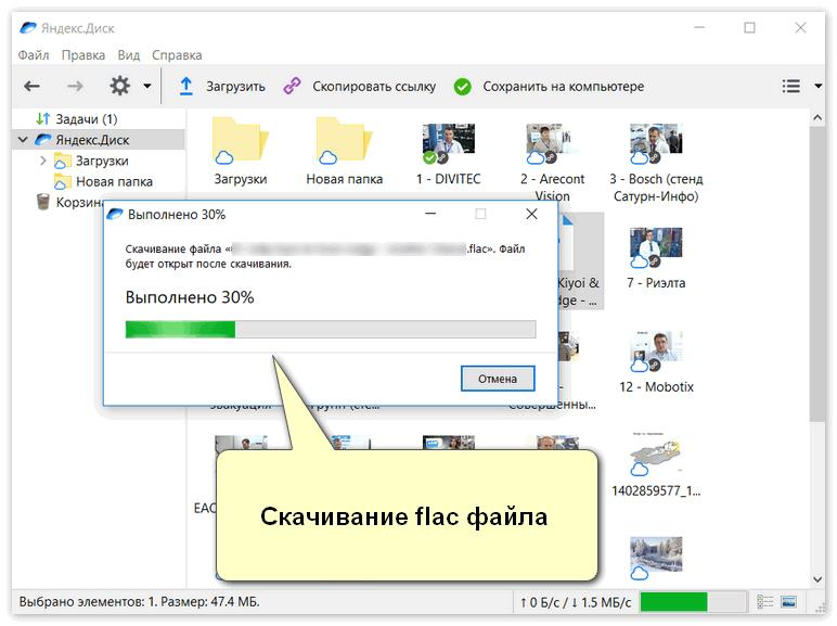 Скачивание flac файла