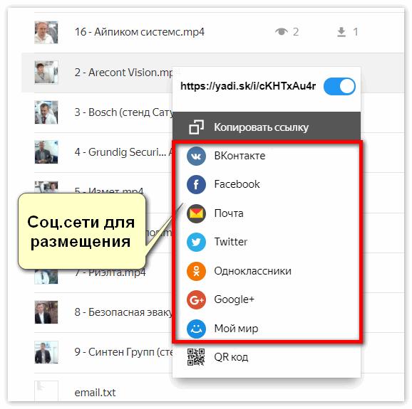 Соцсети для размещения Яндекс