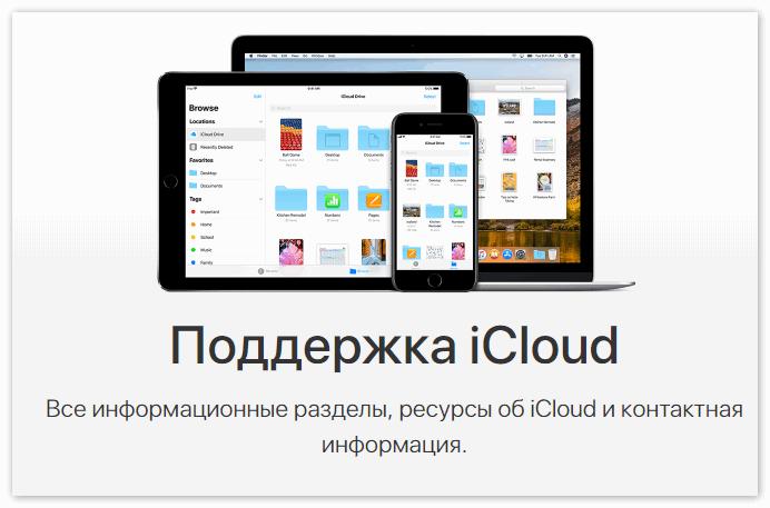 Поддержка iCloud