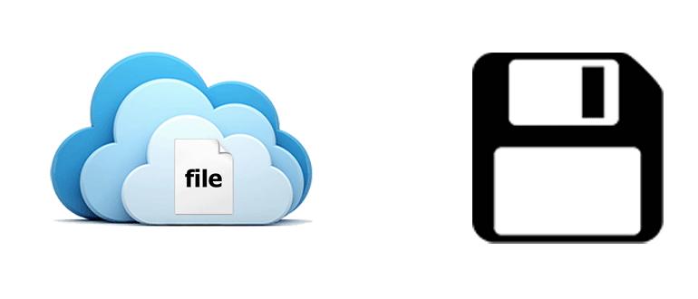 Как сохранить в облаке файлы